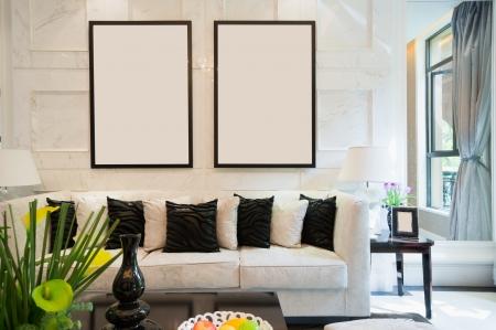luxury living room with nice decoration Stock Photo - 24283052