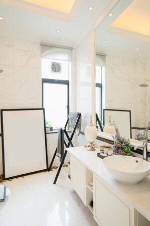 modern bathroom with nice decoration Stock Photo - 24283096