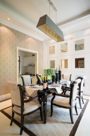 modern dining room with nice decoration Stock Photo - 24283130