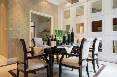 modern dining room with nice decoration Stock Photo - 24283133