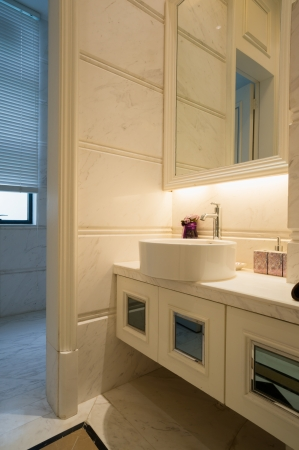 the sink and mirror in modern bathroom Stock Photo - 24283157