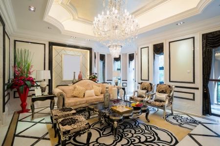 luxury living room with nice decoration Stock Photo - 24283185