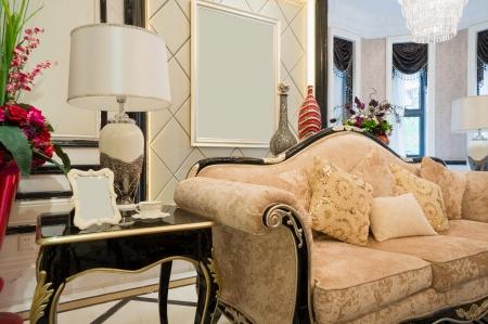 luxury living room with nice decoration Stock Photo - 24283189