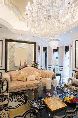 luxury living room with nice decoration Stock Photo - 24283191