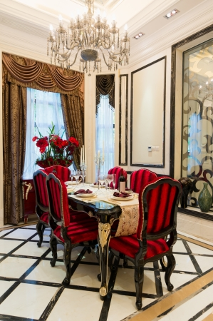 luxury dining room with very nice decoration photo