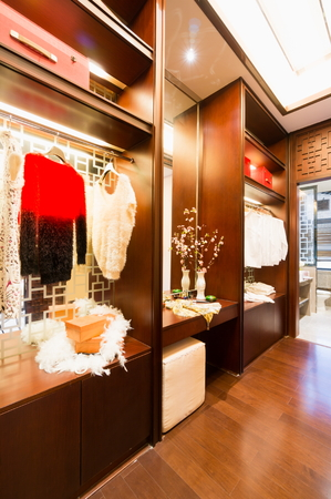 nice dressing room with luxury decoration photo