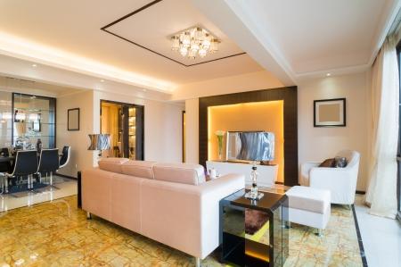Moderne Wohnzimmer mit schönen Dekoration Standard-Bild - 25285338