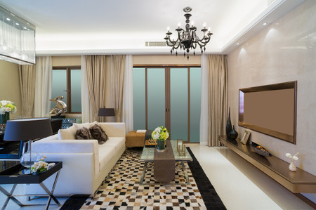 contemporary living room: modern living room with nice design and decoration