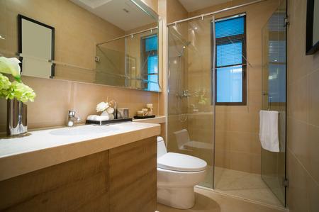 modern bathroom with nice decoration photo