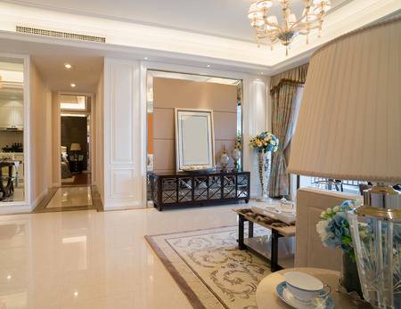 domestic room: luxury home inteior with nice decoration Stock Photo