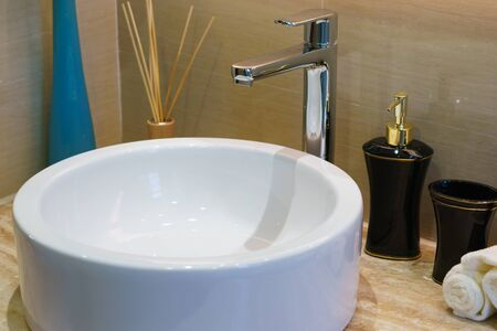 tap room: tap and sink in modern bathroom