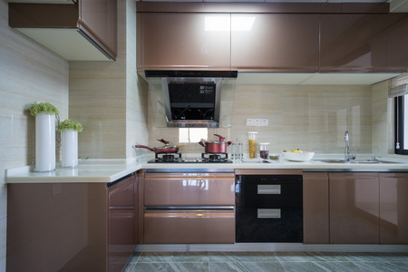 kitchen cabinet: the domestic kitchen with nice cabinet