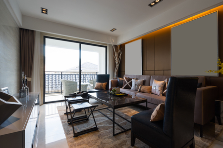 tea lamp: modern house interior with very nice decoration