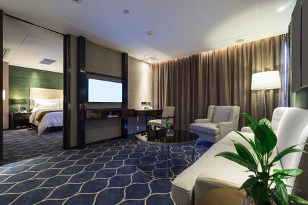 Luxus-Hotelzimmer mit Dekoration Standard-Bild - 44127464