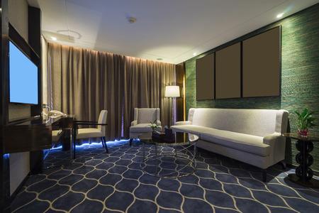 luxury hotel room: luxury hotel room with  decoration