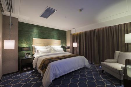 luxe hotel slaapkamer met mooie decoratie
