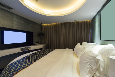 hotel room: luxury hotel room with  decoration