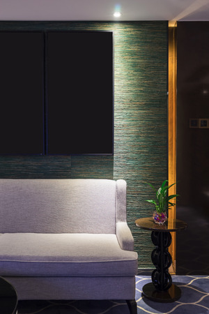 luxury hotel room: luxury hotel room with decoration Stock Photo