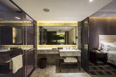 luxury hotel room: luxury hotel room with nice decoration
