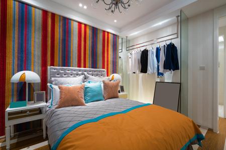 case moderne: la confortevole camera da letto con un bel decor