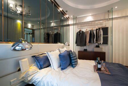 luxury bedroom: bedroom with luxury decoration Stock Photo