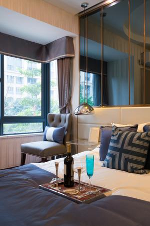 luxury bedroom: the nice bedroom with luxury decoration