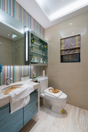 tap room: the modern bathroom with nice decoration