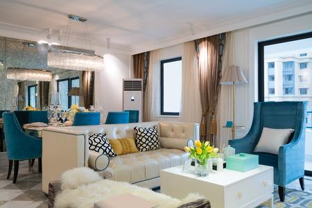 tea lamp: living room with nice decoration