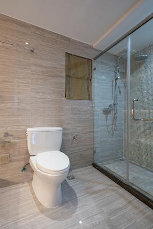 modern bathroom: modern bathroom with nice decoration Stock Photo