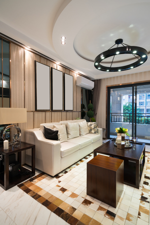 luxury living room: the living room with luxury decoration Stock Photo