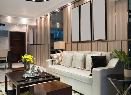luxury room: the living room with luxury decoration Stock Photo