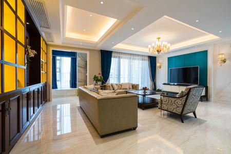 house interior with luxury decoration Standard-Bild