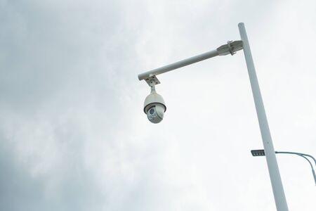 closeup camera in public district