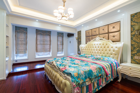the bedroom with luruxy decoration