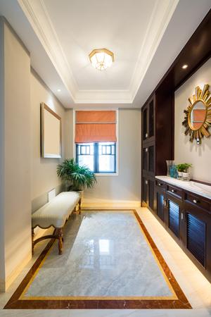 nice house interior with luxury decoration Standard-Bild