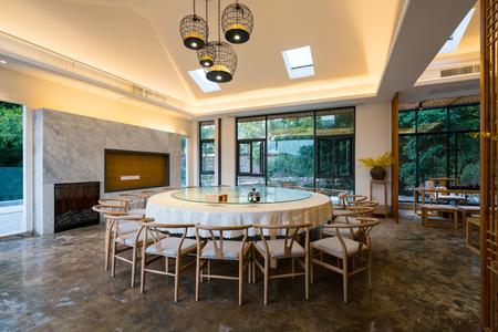 nice restaurant with chinese style furniture Standard-Bild