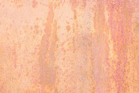 Beige pink coral background of rusty sheet