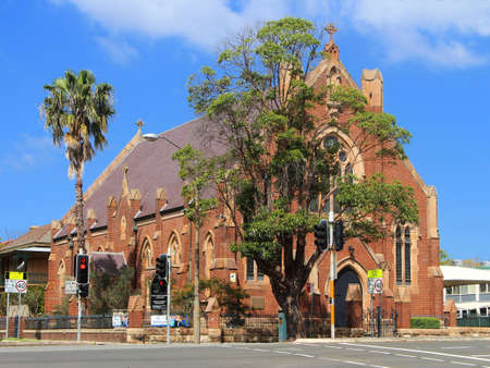 Sydney, NSW / Australia - September 5 2020: St Brendan Catholic Church (1898) Annandale, Inner West, Sydney Australia