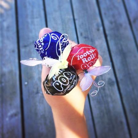 Lollipops and butterflies Фото со стока