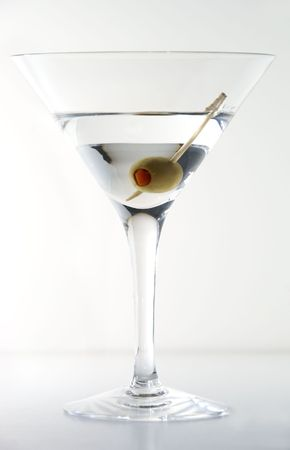 Dry Martini cocktail                  Stock Photo
