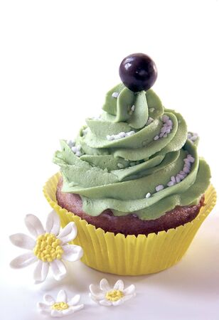 Cupcake with Daisies Imagens - 7555446