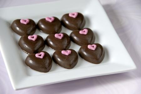 Chocolate hearts                   Reklamní fotografie