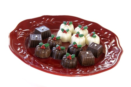 Christmas chocolate truffles                    Stock Photo