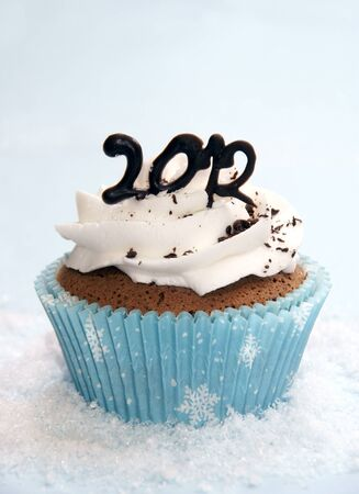 Cupcake to celebrate New Year 2012 Stock Photo - 10847153