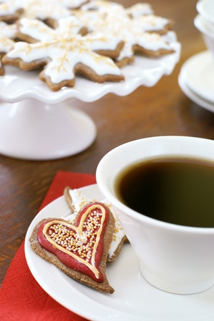 shaped: Heart shaped gingerbread cookie