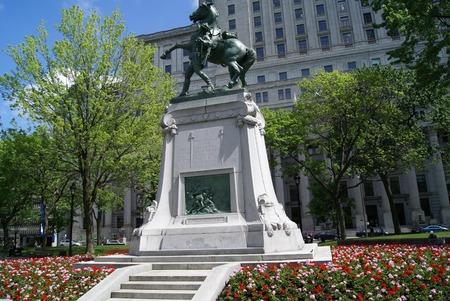 boer: Boer War Memorial en la Plaza Dorchester en Montreal Quebec Canad� Editorial
