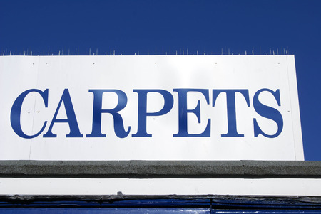 selling service: carpets sign