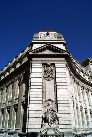 gunnery: Gunnery statue of Admiralty Arch in London England Stock Photo