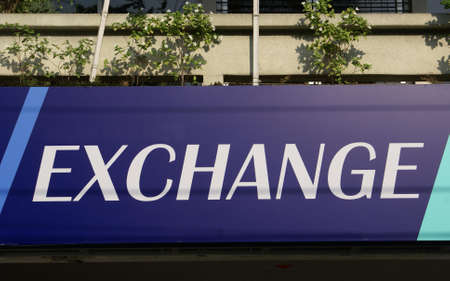 money exchange: money exchange. exchange sign. foreign exchange Stock Photo