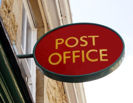 sign post: Post Office sign